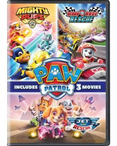 PAW Patrol: 3 Pack (Jet to the Rescue, Ready Race Rescue, Mighty Pups)