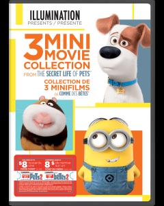 The Secret Life of Pets: 3 Mini-Movie Collection w/ Movie Cash