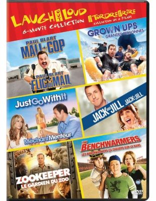 Benchwarmers Zookeeper Grown Ups 2010 Paulblart Mall Cop Jack And Jill Just Go With It Bilingual 6 Discs Dvd