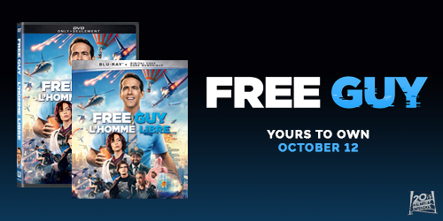 Free Guy available to pre-order on 4K, Blu-ray, and DVD now!