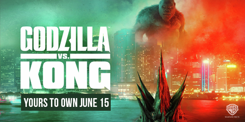 Godzilla vs. Kong available to own on DVD, Blu-ray, 4K, and 3D June 15